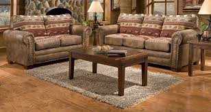 cool rustic leather living room furniture furniture leather sofa and chair with round coffee table and