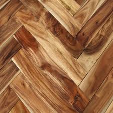 Acacia Natural Herringbone Hardwood Flooring