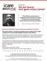 nd annual mlk youth writers contest org icam mlk essay contest 2014