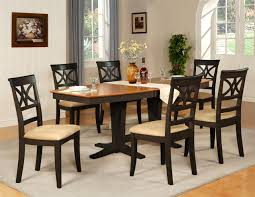 view larger 7pc dinette dining room table w 6 microfiber padded chairs black cherry brown