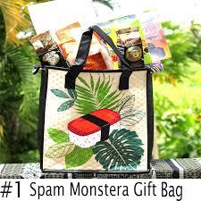 gift bag hawaii spam monstera