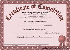 Certificates Of Completion Templates 23 Best Certificate Of Completion Images Certificate Of Completion