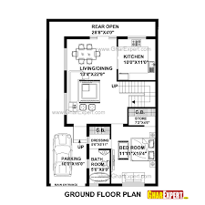 150 Sq Ft House Plan For 30 Feet By 45 Feet Plot Plot Size 150 Square Yards