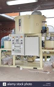 Pellets machine for bio mass and animal compound feed Stock Photo ...
