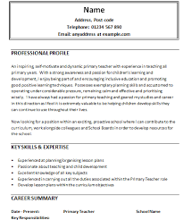 Sample Objective For Teacher Resume
