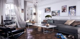 contemporary gray living room furniture. Interesting Gray Casual Modern Living Rooms Featuring Minimalist Furniture  White  Room Gray Chaise Lounge Sofa Inside Contemporary