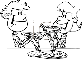 Image result for pizza clipart black and white