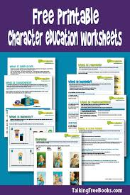 Character Education Worksheets | Talking with Trees Books