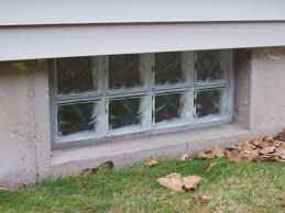 solid glass block basement window in poured basement
