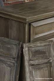 Finished Cabinet Doors Remodelaholic How To Achieve A Restoration Hardware Weathered