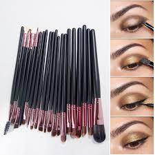 whole 20pcs paintbrushes of makeup brushes set powder foundation eyeshadow eyeliner lip brush pro makeup for mac