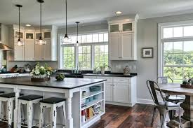 farmhouse kitchen island farmhouse kitchen remodel with black white cabinets black top kitchen island with side