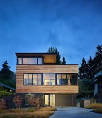 Modern Wood House Modern Wood House Exterior Contemporary With Flat Roof Polyester