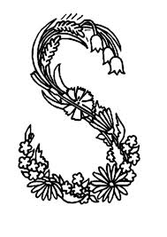 Small Picture Alphabet Flowers Alphabet Flowers Letter S Coloring Pages