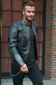 david beckham embraces moto style in belstaff leather jacket