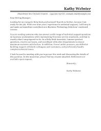Best Help Desk Cover Letter Examples Livecareer
