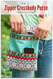 easy sewing projects to sew a zipper cross purse diy sewing ideas for