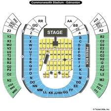 Commonwealth Stadium Seating Chart Rexall Place Concerts Online Charts Collection