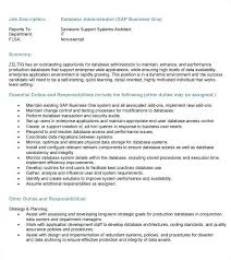 Database Administrator Resume Nfcnbarroom Com