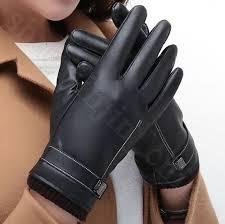 pu leather touch screen gloves men women fleece linner full finger autumn winter outdoor driving mittens ljjo5883 easy knitting mittens easy to knit