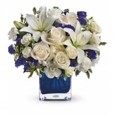 teleflora s sapphire skies bouquet
