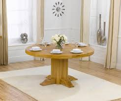 mark harris turin solid oak round dining table