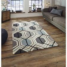 hong kong hk 7526 grey blue rug by think rugs