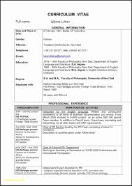 Resume Template Fill In The Blanks Best Of Printable Blank Resume