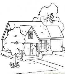 Small Picture House With Garden Coloring Page erikhanseninfo