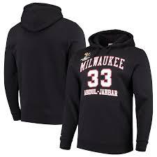 Ness Abdul-jabbar Pullover Mitchell - Hoodie amp; Bucks Player Black Milwaukee Kareem