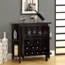 Bar Unit with Bottle and Glass Storage Cabinet at Brookstone—Buy Now