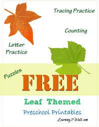 Free Fall Leaf Preschool Printable Worksheets | Worksheets, Maths ...