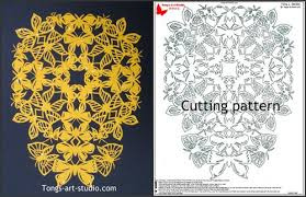 Paper Cutting Patterns Custom ButterflyCross Paper Cutting Pattern CR4848 Tong's Art Studio