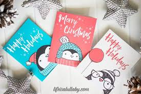Christmas Card Images Free Free Penguin Christmas Card Printables The Best Ideas For Kids