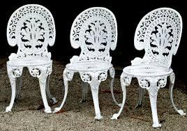 white iron garden furniture. Cast Iron Chairs Outdoor Top White Metal Furniture With Elegance Not Comfort Garden R