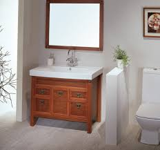 modern bathroom vanity ideas. Inspiring Decorating Ideas Using Rectangular Brown Mirrors And White Sinks Also With Wooden Modern Bathroom Vanity
