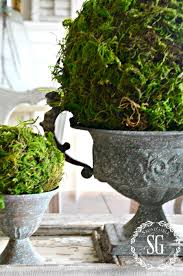 Decorating With Moss Balls TEXTURED MOSS BALL DIY StoneGable 97