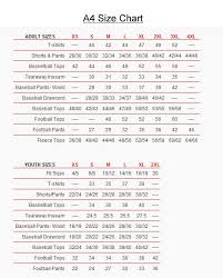 Baseball Pants Size Chart Youth Football Jersey Size Chart A4 Varsity Youth Football