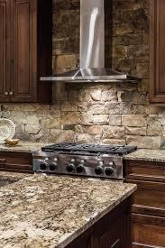 stacked stone kitchen backsplash contemporary kitchen rustic decor ideas