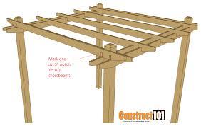 Simple Pergola Simple Diy Pergola Plans Construct101 1709 by xevi.us