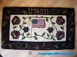 hooked rug american folk art by margot white