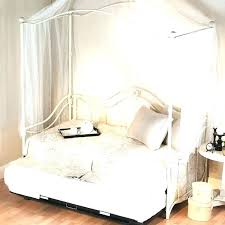 Diy Canopy Bed With Fairy Lights Plans Wood Frame Curtains Home ...