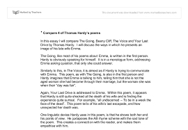 compare of thomas hardy s poems in this essay i will compare the  document image preview