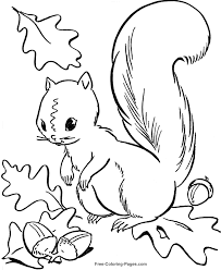 Small Picture Fall Coloring Book Pages FunyColoring