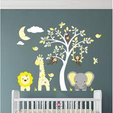 uni jungle nursery wall stickers in