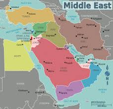 turkey middle east map. Simple Map Fun Facts For Kids All About The Middle East  Map Of Intended Turkey D