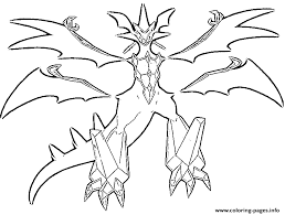 Get free printable coloring pages for kids. Necrozma Pokemon Legendary Generation 7 Coloring Pages Printable