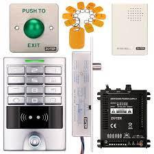 DIY Access Control giriş su geçirmez klavye Office RFID Key Ring Code  System-Kit + elektrik kapı kilidi Fail güvenli yok: Amazon.com.tr