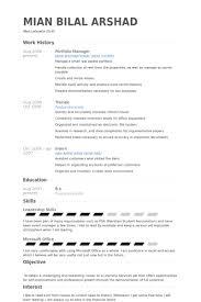 Resume Portfolio Examples Enchanting Portfolio Manager Cv Resume Objective Example Resume Portfolio