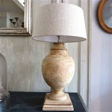 carved wooden table lamps